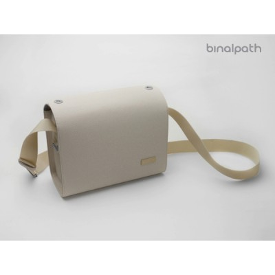 Gariz Binalpath Synthetic Leather Camera Bag Large : Ivory (CB-MCL)