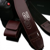 Gariz Ergonomic Leather Neck Strap : Brown