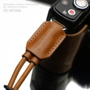 Gariz Leather Wrist Strap (small) : Light Brown (XS-WSM6)
