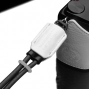 Gariz Leather Wrist Strap  : White / Black (XS-WB6)