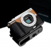 Gariz Leather Half-case for Lumix GX85: Black (XS-CHGX85BK)