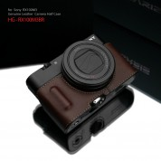 Gariz Leather Half-case for Sony RX100M3/4/5 : Brown (ฺHG-RX100M3BR)