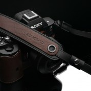 Gariz XS-CHLSNBR2 Brown Leather Neck Strap