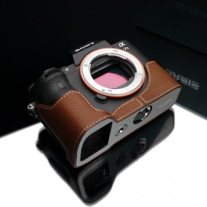 Gariz Leather Half-case for Sony A7 II : Camel (XS-CHA7IICM)
