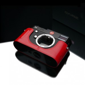 Gariz Leather Half-case for Leica M Black Label :Red