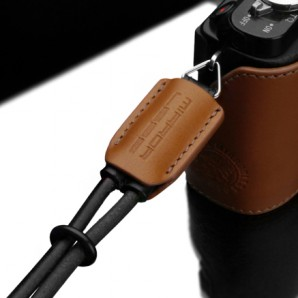 Gariz Leather Wrist Strap : Light Brown (XS-WB4)