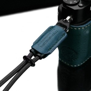 Gariz Leather Wrist Strap : Blue-Green (XS-WBL3)