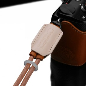 Gariz Leather Wrist Strap : Tan beige (XS-WBL5)
