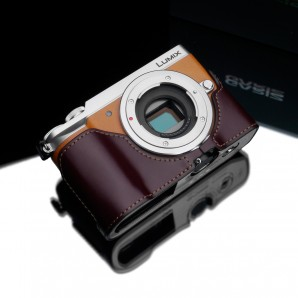 Gariz Leather Half-case for Lumix GX85: Brown (XS-CHGX85BR)