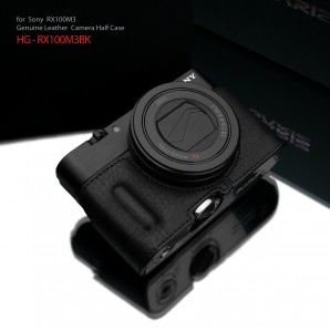 Gariz Leather Half-case for Sony RX100M3/4/5 : Black (ฺHG-RX100M3BK)