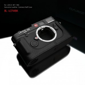 Gariz Leather Half-case for Leica M7, M6 : Black (ฺBL-LCFMBK)