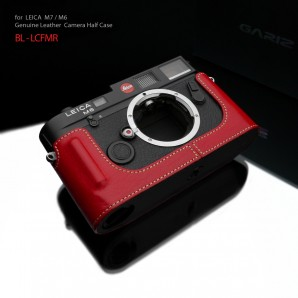 Gariz Leather Half-case for Leica M7, M6 : Red (ฺBL-LCFMR)