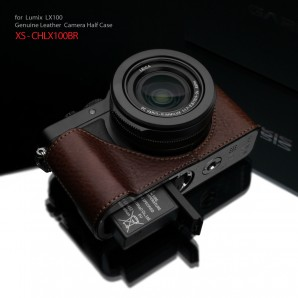 Gariz Leather Half-case for Lumix LX100 : Brown (XS-CHLX100BR)