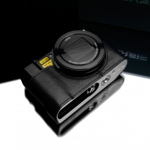 Gariz Leather Half-case for Lumix LX10: Black (XS-CHLX10BK)