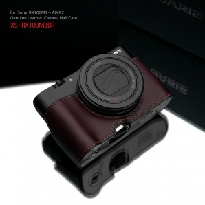 Gariz Leather Half-case for Sony RX100M3/4/5  : Brown (ฺXS-RX100M3BR)