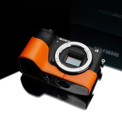 Gariz Leather Half-case for Sony A6500: Orange (XS-CHA6500OR)