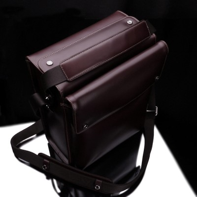 Gariz Leather Zoom Bag Large for Mirrorless : Brown