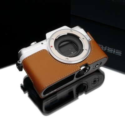 Gariz Leather Half-case for Lumix GF7: Light Brown (XS-CHGF7LB)