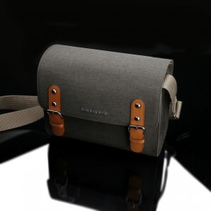 Gariz BinalPath CB-NCMKH NeoClassic Canvas Camera Bag M : Khaki