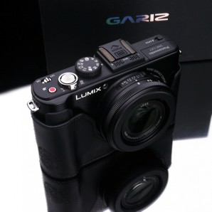 Gariz Leather Half-case for Lumix LX7: Black (XS-CHLX7BK)