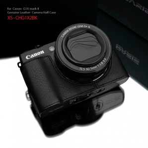 Gariz Leather Half-case for Canon G1X Mark II : Black (ฺ	XS-CHG1X2BK)