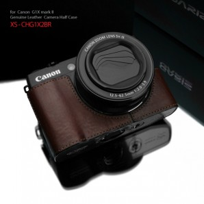 Gariz Leather Half-case for Canon G1X Mark II : Brown (ฺ	XS-CHG1X2BR)