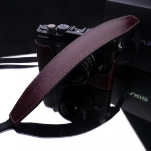 Gariz Leather Neck Strap : Brown