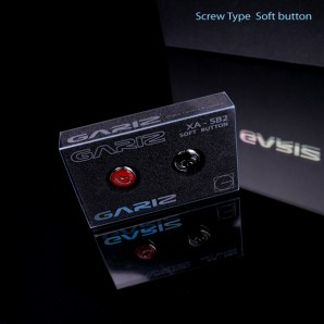 Gariz Soft Release Button (Screw Type): Black+Red