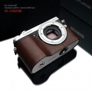 Gariz (XS-CHGX7BR) Half-case for Panasonic GX7 : Brown