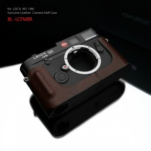 Gariz Leather Half-case for Leica M7, M6 : Brown (ฺBL-LCFMBR)