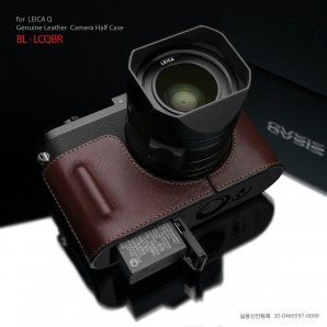Gariz Leather Half-case for Leica Q Black Label : Brown (BL-LCQBR)