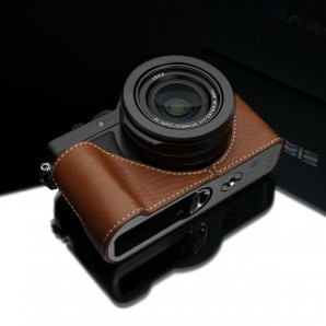Gariz Leather Half-case for Lumix LX100 : Camel (XS-CHLX100CM)
