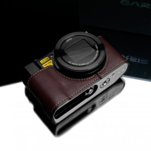 Gariz Leather Half-case for Lumix LX10: Brown (XS-CHLX10BR)