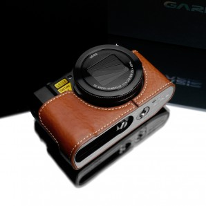 Gariz Leather Half-case for Lumix LX10: Camel (XS-CHLX10CM)