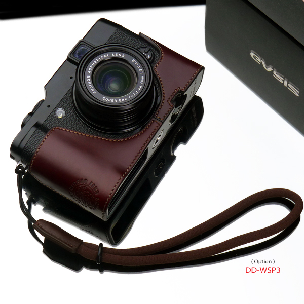 Gariz Leather Half-case for Fuji X10 / X20: Brown