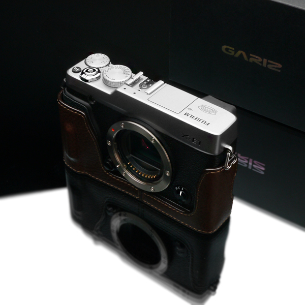 Gariz Leather Half-case for Fuji XE1 / XE2: Brown (HG-XE2BR)