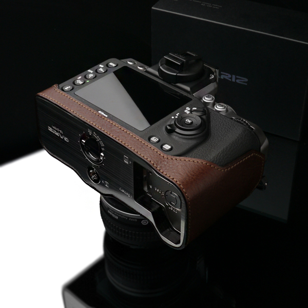 Gariz Leather Half-case for Nikon Df : Brown (XS-CHDFBR)