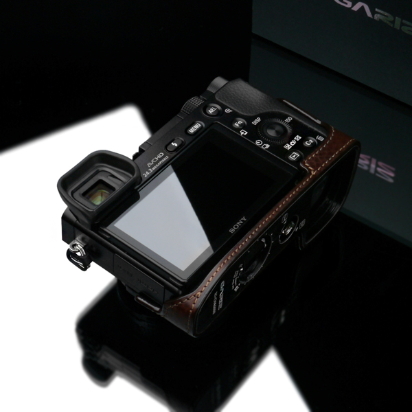 Gariz Leather Half-case for Sony A6000 -Brown (XS-CHA6000BR)