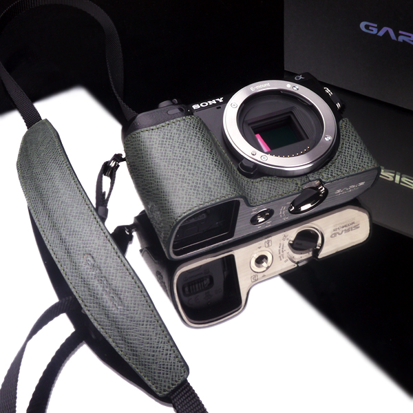 Gariz Leather Neck Strap XA-CHLSS : Special Green