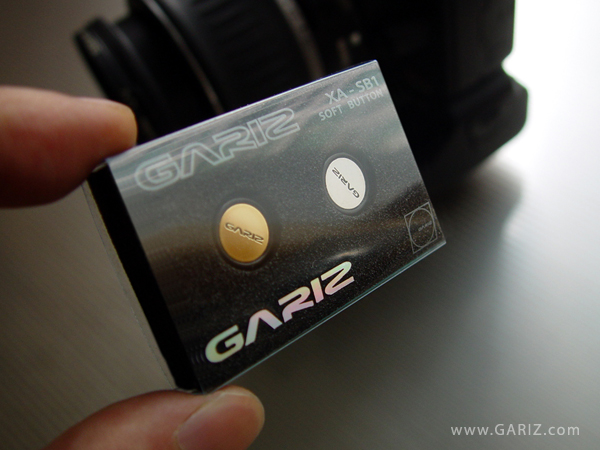 Gariz XA-SB1 Soft Button: (Hollow) Gold+Silver