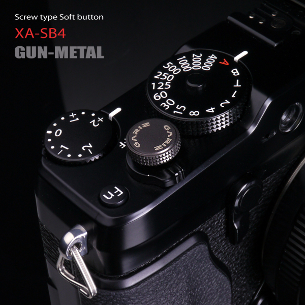 Gariz XA-SB4 Soft Release Button (Screw Type): Gun Metal